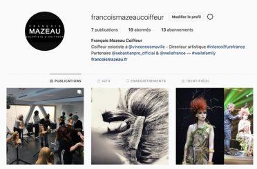 François Mazeau Coiffeur sur Instagram !